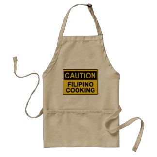 Caution Filipino Cooking - Filipino Chef Apron