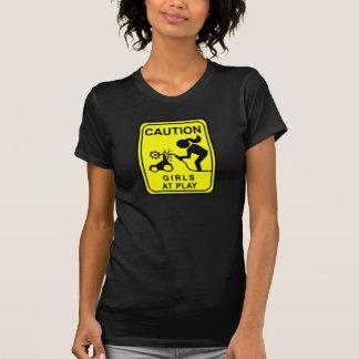 Caution Girls at play T-Shirt
