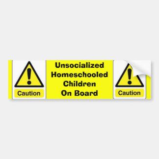 Caution Homeschooled Children Bumper Sticker