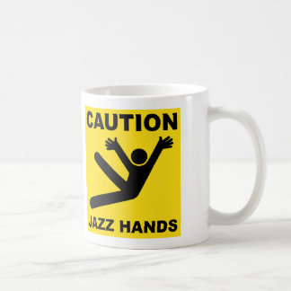 Caution Jazz Hands mug