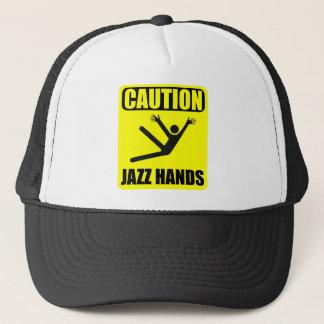 Caution Jazz Hands Trucker Hat