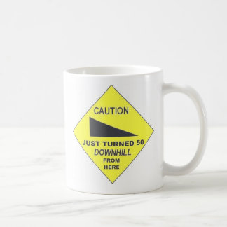 Caution, Just Turned 50 Classic White Coffee Mug