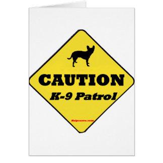 Caution K9 Patrol Card