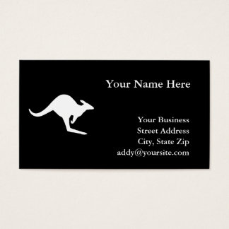 Caution Kangaroo Business Card