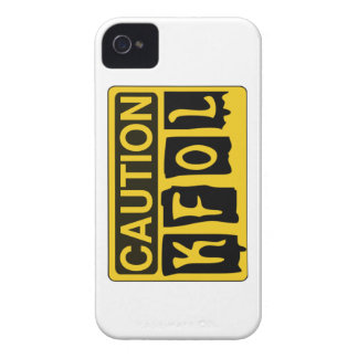 CAUTION KFOL by Customise My Minifig iPhone 4 Cover