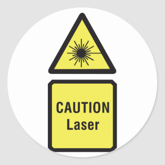 Caution Laser Sign Stickers