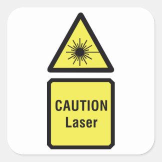 Caution Laser Stickers
