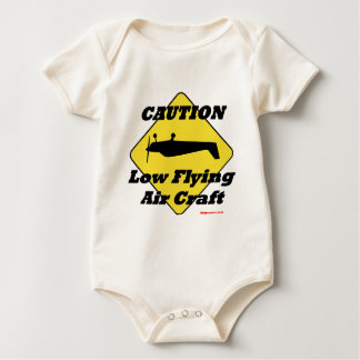 Caution Low Flying Air Craft Baby Bodysuit