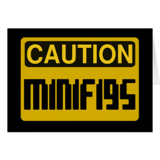 CAUTION MINIFIG by Customize My Minifig Card