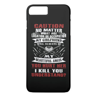 CAUTION MY GIRLFRIEND iPhone 7 PLUS CASE