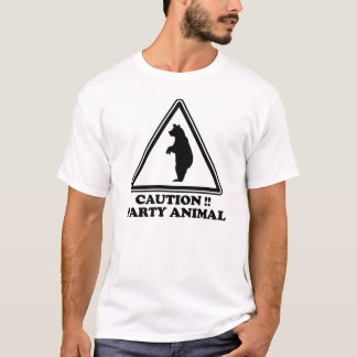 Caution Party Animal T-Shirt