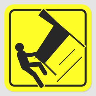 CAUTION - Pinball Wizard Player XING funny sticker