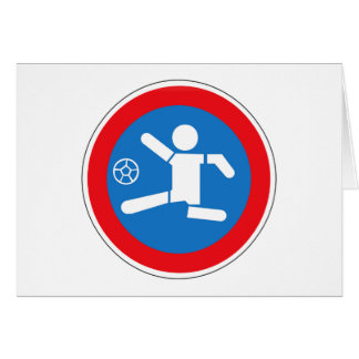 Caution Playing Children, Traffic Sign, Argentina Card