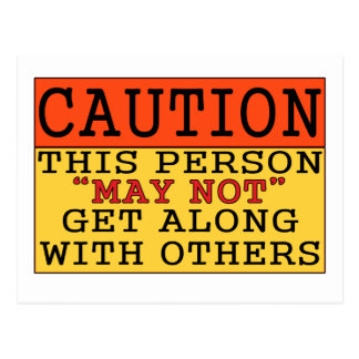 Caution Postcard