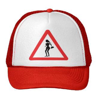Caution Prostitute (Attenzione Prostitute) Sign Trucker Hat