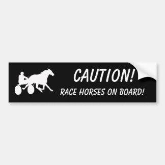 Caution! Race Horses on Board! Bumper Sticker