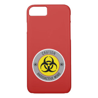 CAUTION RADIOACTIVE MIND iPhone 8/7 CASE