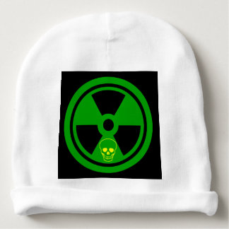 Caution Radioactive Sign With Skull Baby Beanie