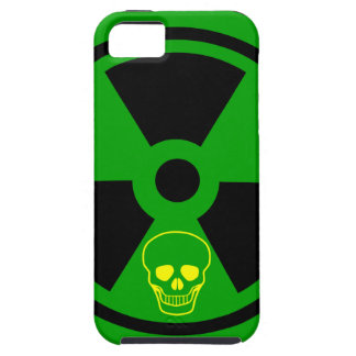 Caution Radioactive Sign With Skull Case For The iPhone 5