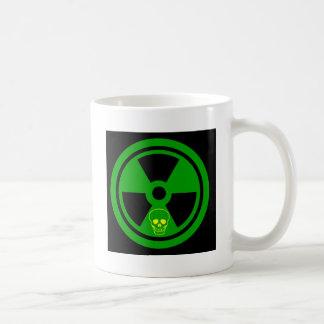 Caution Radioactive Sign With Skull Coffee Mug