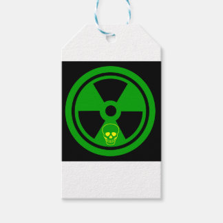 Caution Radioactive Sign With Skull Gift Tags