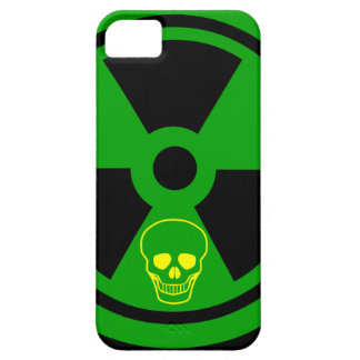 Caution Radioactive Sign With Skull iPhone 5 Covers