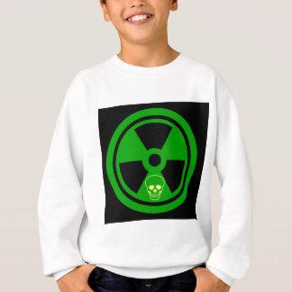 Caution Radioactive Sign With Skull Sweatshirt