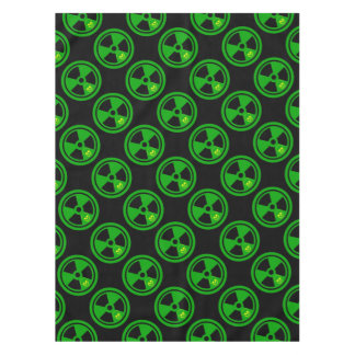 Caution Radioactive Sign With Skull Tablecloth