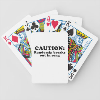 Caution Randomly Breaks Out in Song Bicycle Playing Cards