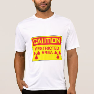 Caution Restricted Area Mens Active Tee