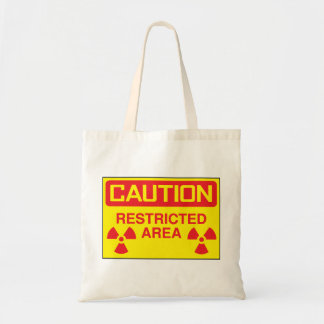 Caution Restricted Area Tote Bag