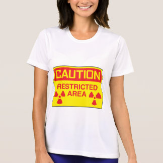 Caution Restricted Area Womens Active Tee