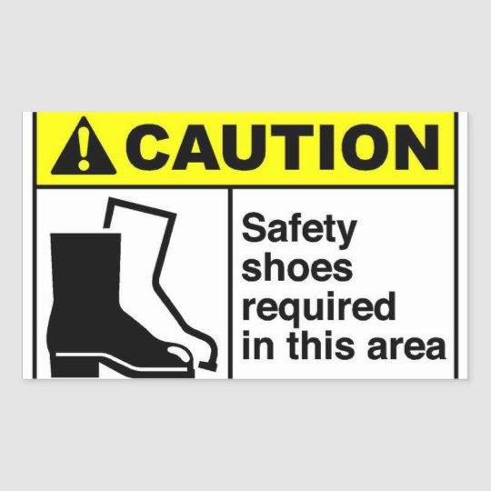 CAUTION Safety shoes Sticker