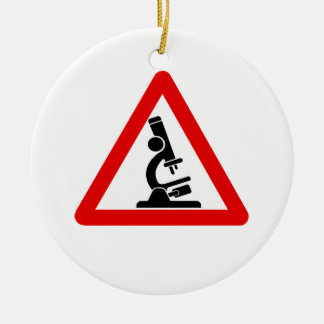 Caution:  SCIENCE! Ceramic Ornament