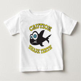 Caution! Shark Teeth!  Baby Fine Jersey T-Shirt