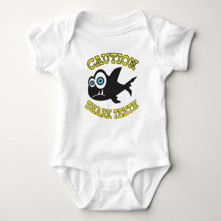 Caution Shark Teeth Baby Jersey Bodysuit