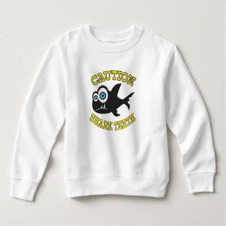 Caution! Shark Teeth!  Toddler Fleece Sweatshirt