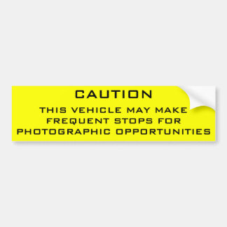 Caution Shutterbug Bumper Sticker