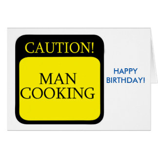 Caution sign for Birthday greeting card