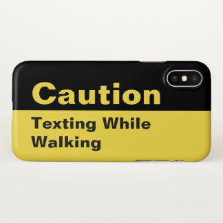 Caution Sign | Texting While Walking iPhone Case