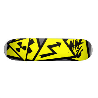 Caution Signs Custom Skate Board