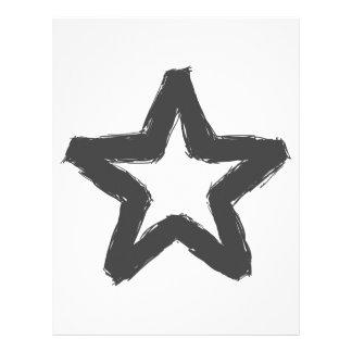 Caution star ahead! letterhead