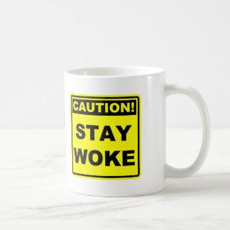 Caution Stay Woke Meme Mug