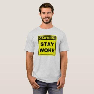 Caution Stay Woke Meme Shirt