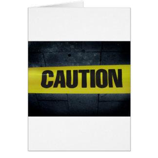 Caution Tape Card