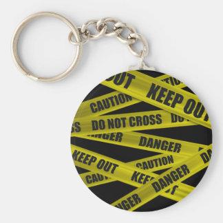 Caution Tape Keychain