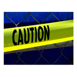 Caution Tape Post Cards