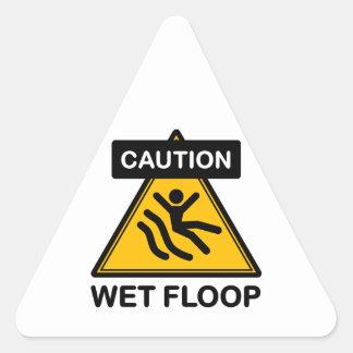 Caution! Wet Floop Triangle Sticker