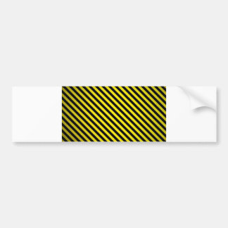 caution yellow black stripes under construction bumper sticker