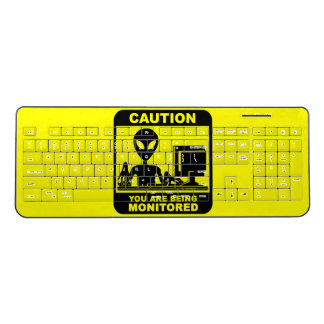 Caution! you are being monitored wireless keyboard